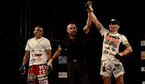 Gasparzinho venceu em 1 minuto e 14 segundos de luta. Foto: Humberto Mota/O POVO