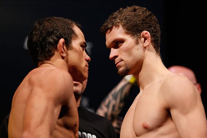'Sem Chance' (esquerda) vai em busca de sua 1ª vitória no UFC. Foto: UFC/Divulgação