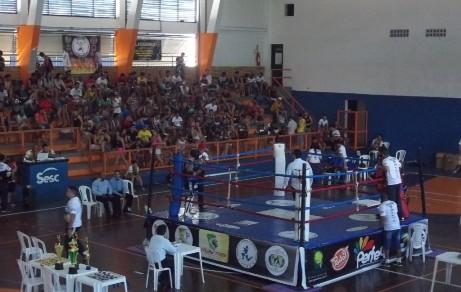 Evento contou com boa presença de público no ginásio do Sesc. Foto: Bruno Balacó/O POVO