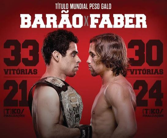 Renan Barão e Urijah Faber fazem revanche pelo cinturão. Foto: divulgação