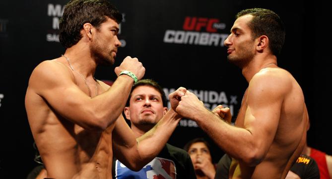 Encarada de Machida x Mousasi. Foto: UFC/Divulgação