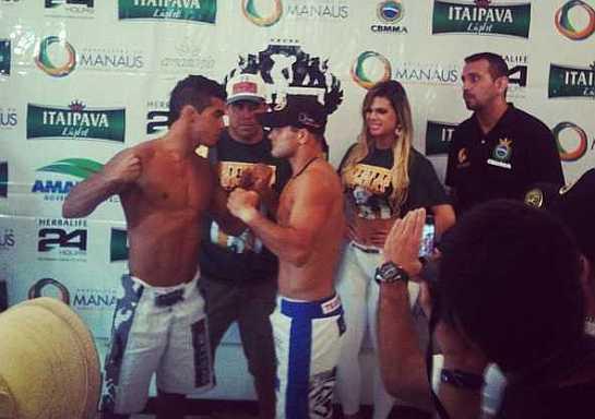 Andrezinho Nogueira durante a encarada com Erik Silva   Foto: reprodução/instagram