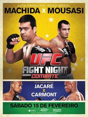 Pôster oficial do UFC Jaraguá do Sul destaca duelo entre Machida x Mousasi e Jacaré x Carmont | Foto: divulgação