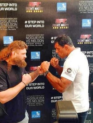 Os dois fazem a luta principal do UFC em Abu Dhabi. Foto: reprodução