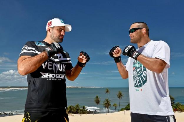 Shogun e Henderson fazem a lua principal do evento em Natal. Foto: UFC/Divulgação