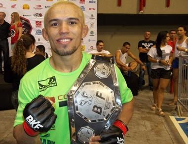 Chiquerim defenderá cinturão conquistado na 3ª edição do BKF. Foto: Bruno Balacó/O POVO