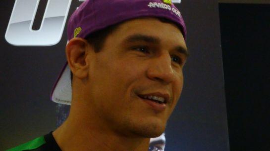 Cezar Mutante durante coletiva após o treino aberto do UFC em Natal. Foto: Daniel Santos/O POVO