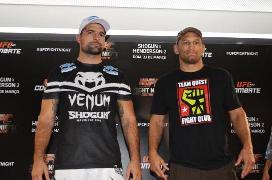 Maurício Shogun e Dan Henderson fazem a luta principal do UFC em Natal. Foto: UFC/Divulgação