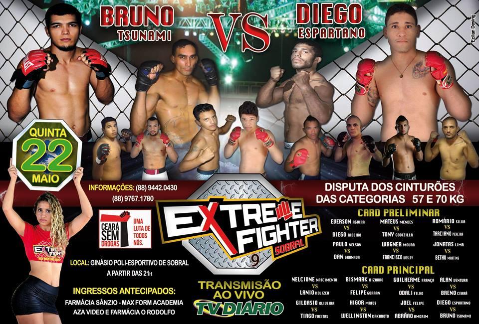 Card completo do evento em Sobral. Foto: Divulgação