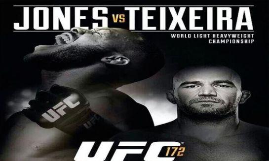 Cartaz oficial do UFC 172: Jones x Teixeira. Foto: UFC/Divulgação