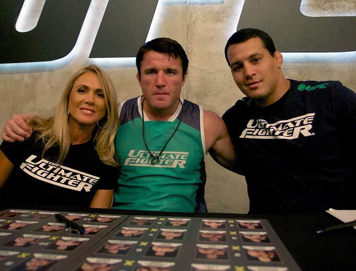 Hortência integra o Time Sonnen no TUF Brasil 3. Foto: Site oficial do UFC
