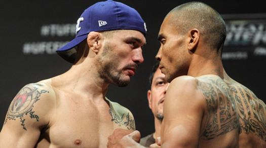 Encarada de Rony Jason e Peralta. Foto: Divulgação/UFC/Inovafoto