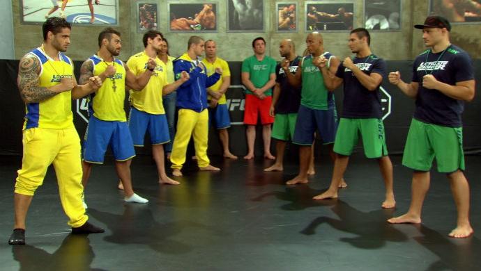 Encarada dos oito semifinalistas do TUF Brasil 3. Foto: Reprodução TV