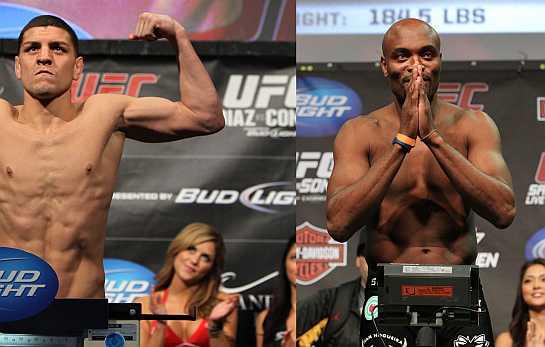 Nick Diaz e Anderson Silva | UFC/Divulgação