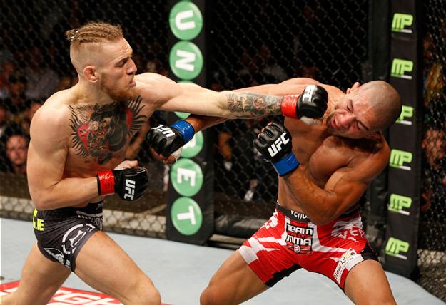 McGregor dominou Diego na luta em pé. Foto: UFC/Divulgação