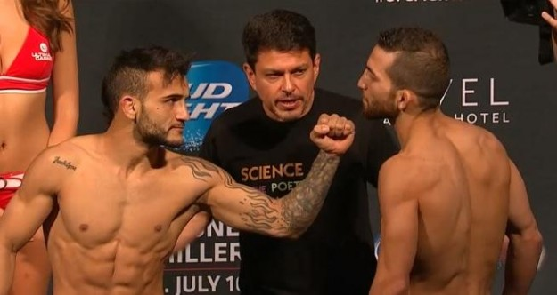 Lineker acertou um cruzado certeiro para vencer a luta | Foto: UFC/Divulgação