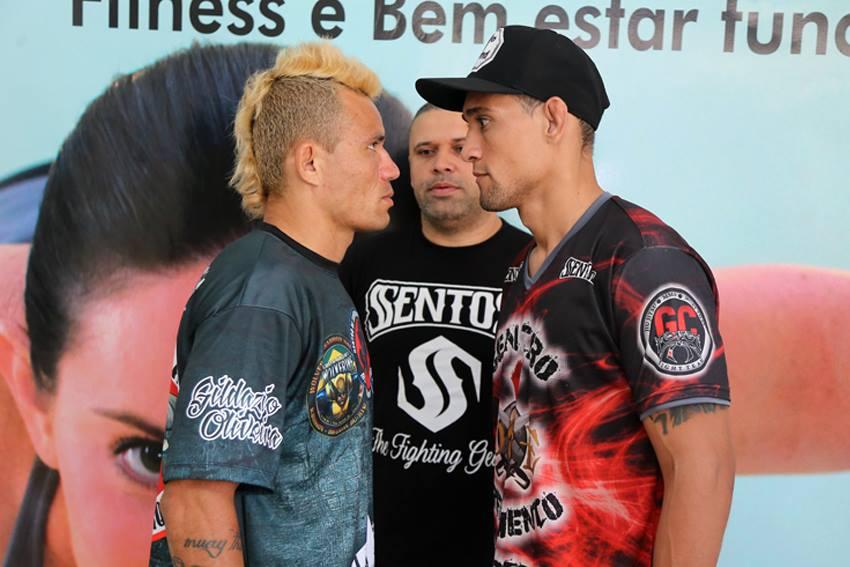 Um dos duelos da noite envolve Gildázio Oliveira e Diego Espartano (esquerda). Fotos: Divulgação