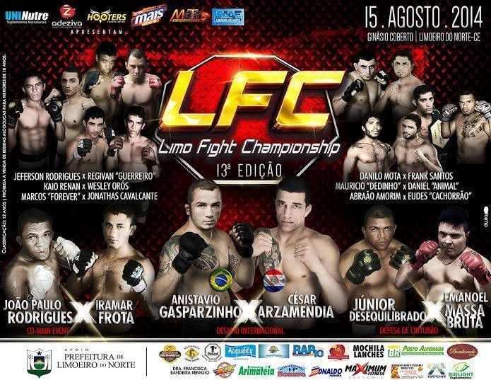 Limo Fight realiza sua 13ª edição com cinco disputas de cinturão. Foto: Divulgação