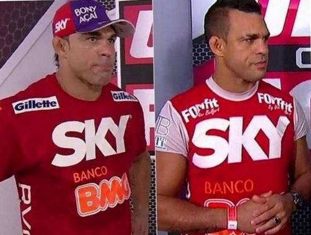 Antes e depois de Vitor Belfort | Foto: reprodução