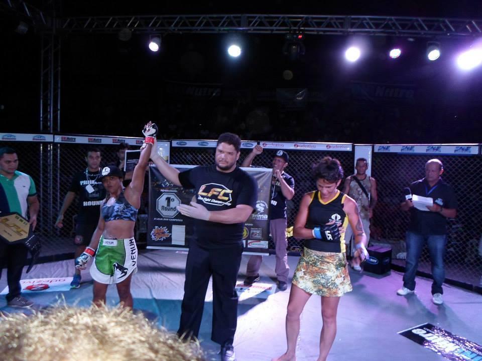 Sucuri conquistou a 1ª vitória por finalização de sua carreira. Fotos: Arquivo Pessoal