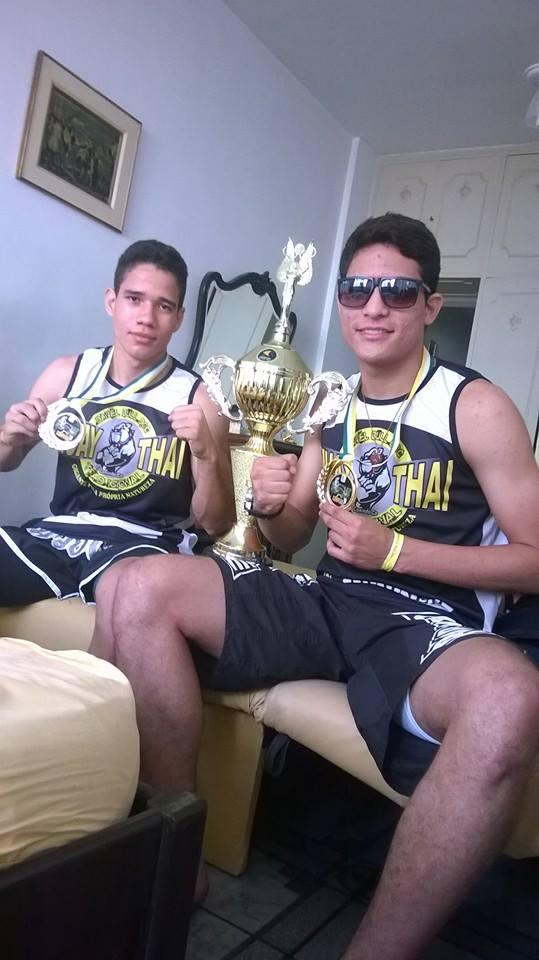 Cearenses Johhan e Jefferson competiram no juvenil. Foto: Arquivo Pessoal