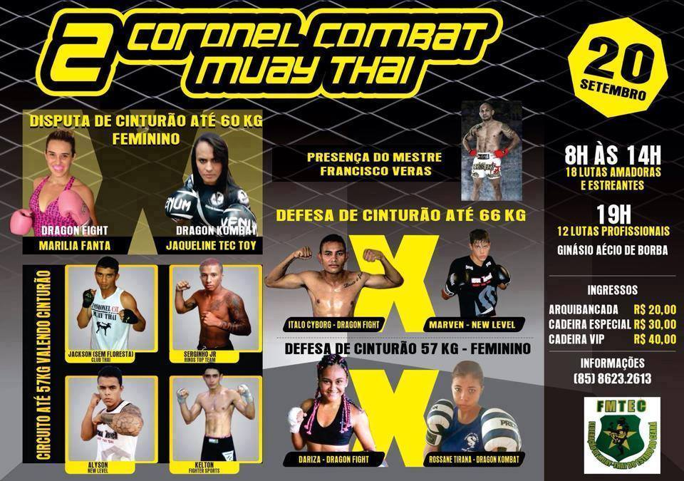 As mulheres são o destaque do Coronel Combat Muay Thai. Foto: Divulgação