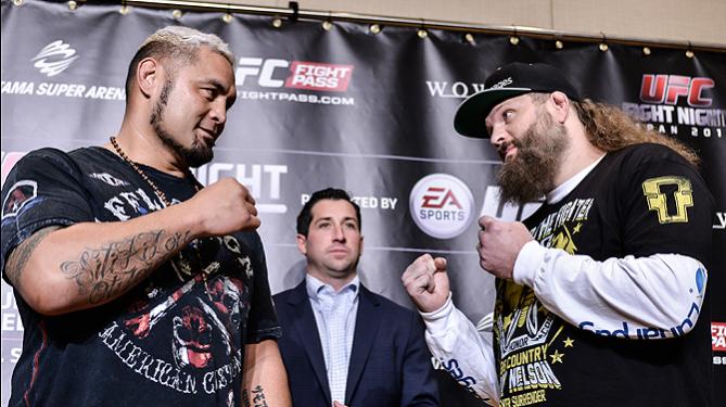 Encarada entre os protagonistas do evento no Japão. Foto: UFC/Divulgação