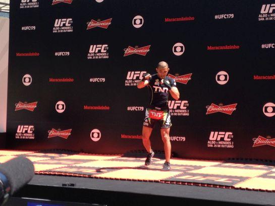 José Aldo em treino aberto do UFC 179 | Lucas Mota/O POVO