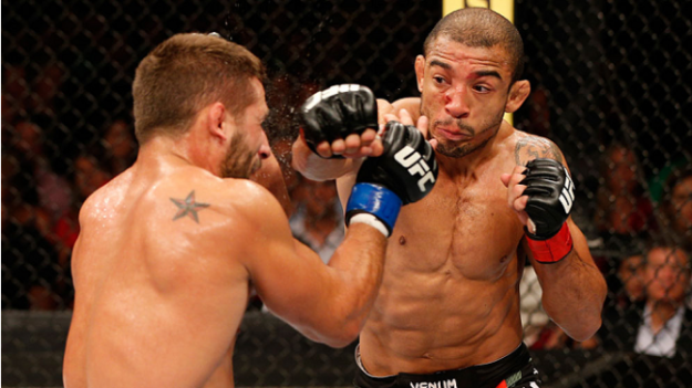 Aldo venceu por decisão unânime. Foto: UFC/Divulgação