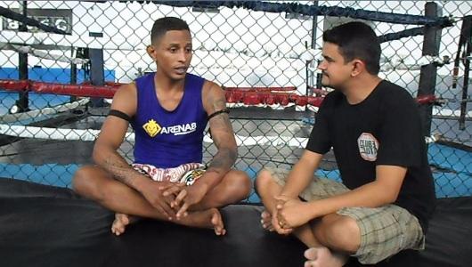 Johhny Eduardo, durante a entrevista ao blog Clube da Luta. Foto: Reprodução