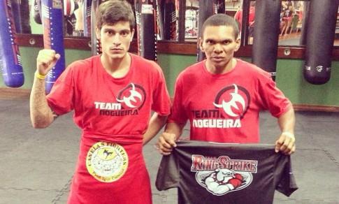 Bruno (esquerda) e Elinardo disputarão o cinturão de suas categorias. Foto: Arquivo Pessoal