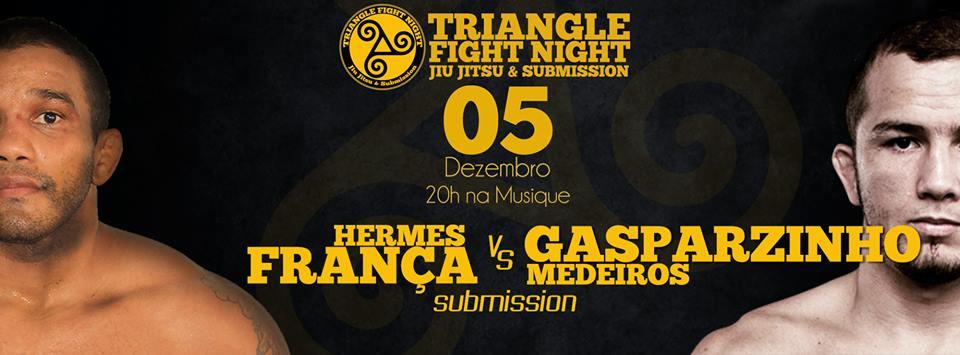 Confirmação da nova luta principal do Triangle Fight Night. Foto: Divulgação