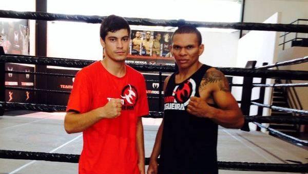 Bruno e Elinardo representam a academia Team Nogueira Fortaleza. Fotos: Arquivo Pessoal