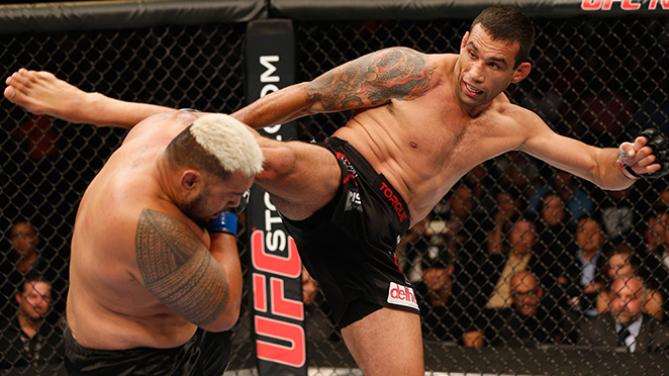 A luta entre Werdum e Hunt se desenrolou em pé. Foto: UFC/Divulgação