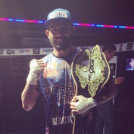 Pimba conquistou o título do Mr. Cage em dezembro. Foto: Arquivo Pessoal
