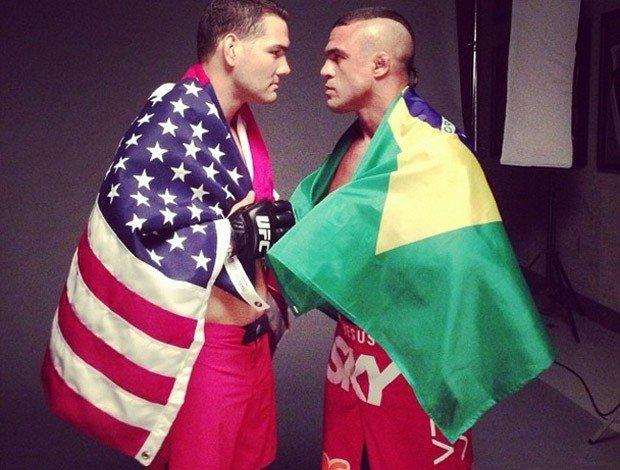 No primeiro duelo Brasil-Estados Unidos, Belfort enfrenta Weidman no final de fevereiro. Foto: UFC/Divulgação