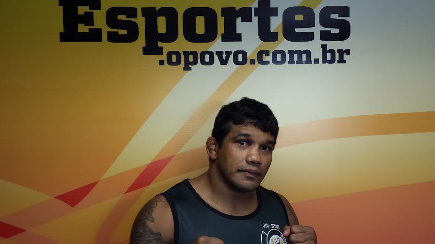 Hermes diz que vinha treinando forte na Global Fight. Foto: Gutemberg Figueiredo/O POVO