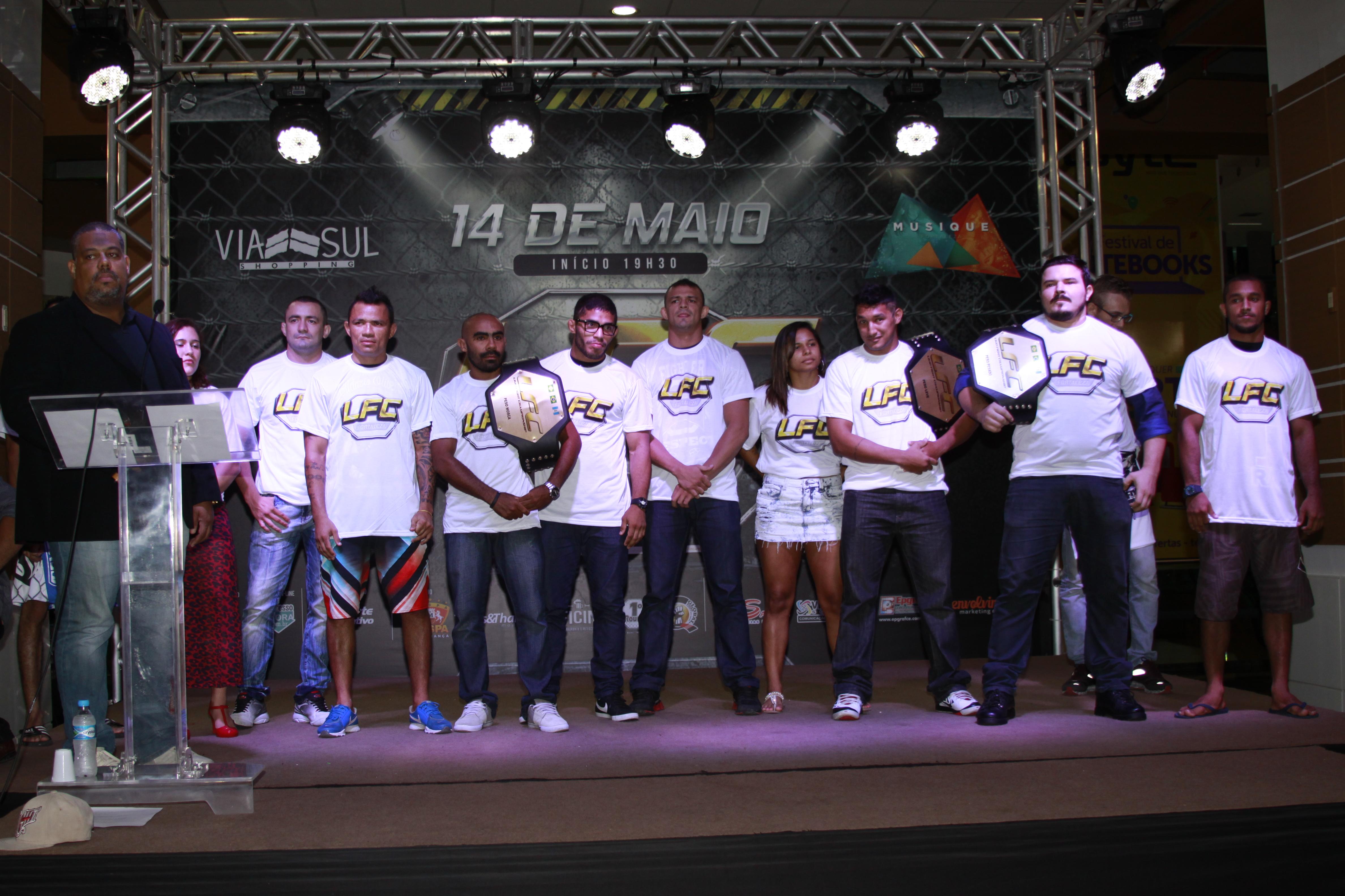 Evento contou com a presença de vários atletas do card. Fotos: Arquiteta Eventos