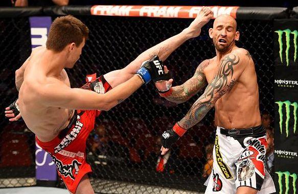 Means dominou Sullivan e finalizou no terceiro round | Foto: UFC/Divulgação