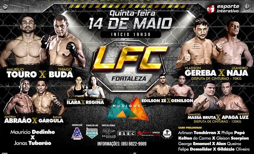 Card fechado e atualizado do Limo Fight. Foto: Divulgação