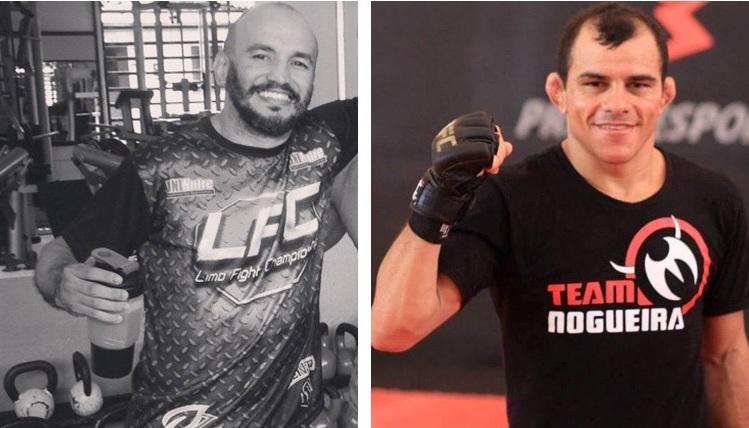 Sem Chance (esquerda) e Paulo Guerreiro são nomes bem conhecidos no cenário do MMA cearense. Fotos: Divulgação