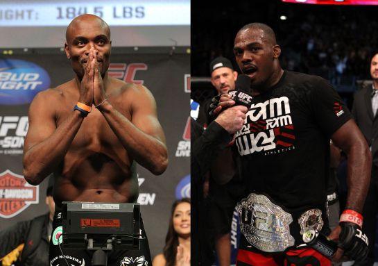 Anderson Silva e Jon Jones caíram no doping em 2015   Foto: UFC/Divulgação/Editoria de Arte
