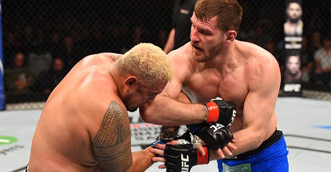 Miocic não tomou conhecimento de Hunt. Foto: UFC/Divulgação