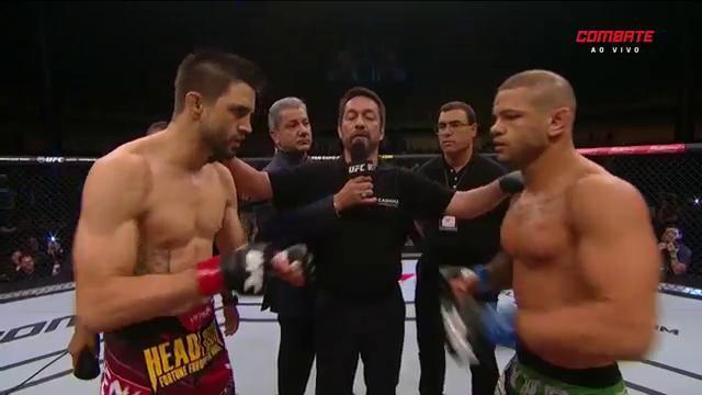 Dois atletas brigaram por uma chance de lutar pelo cinturão em breve. Foto: Reprodução/Combate