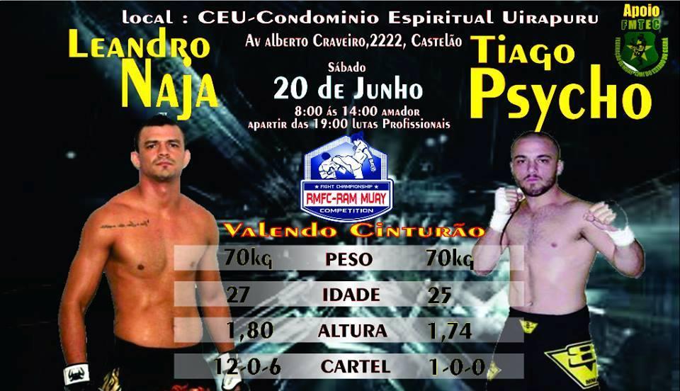 Cartaz de apresentação da luta principal. Foto: Divulgação