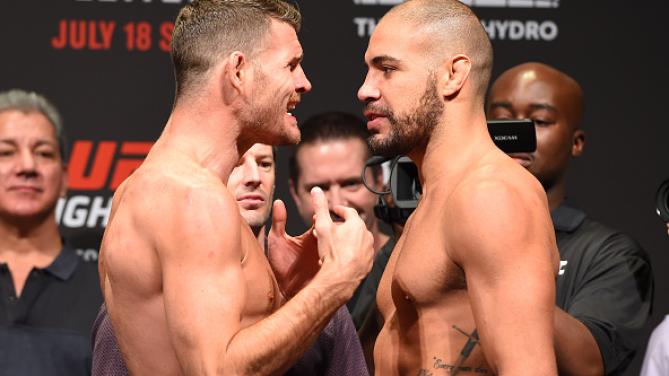 Bisping iniciou a provocção. Foto: UFC/Divulgação