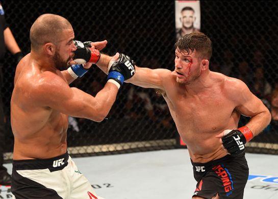 Thales foi frustrado por Bisping na trocação | Foto: UFC/Divulgação