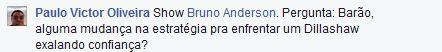 Pergunta do internauta Paulo Victor
