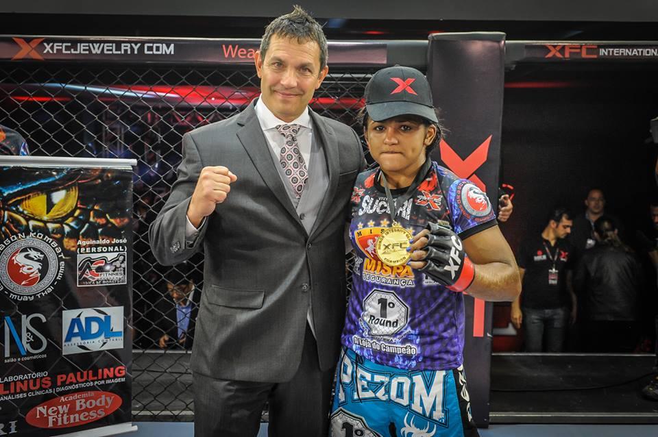 Sucuri venceu três lutas na organização para se tornar campeã do XFCi. Foto: XFC/Divulgação