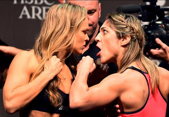 Encarada entre Ronda e Bethe foi intensa   Foto: UFC/Divulgação